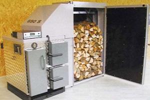 Exemple de chaudière à bûches de bois