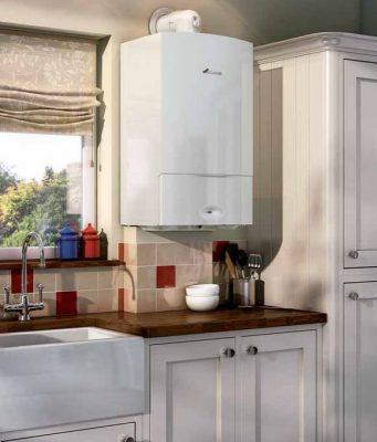 La chaudière est installées dans la cuisine